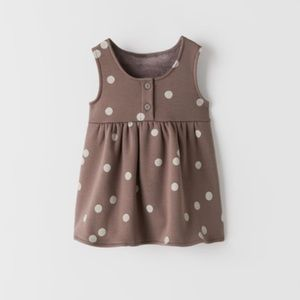NWT 12-18 months Zara Polka dot overall dress
